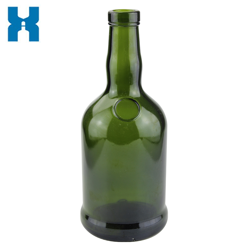 750ml Wine Bottle Dark Green