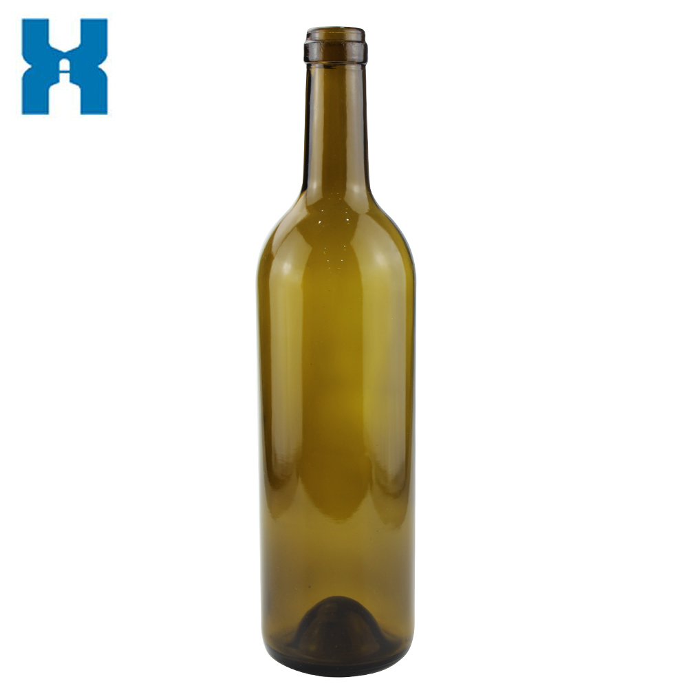 Antique Green Glass 750ml Wine Bottle