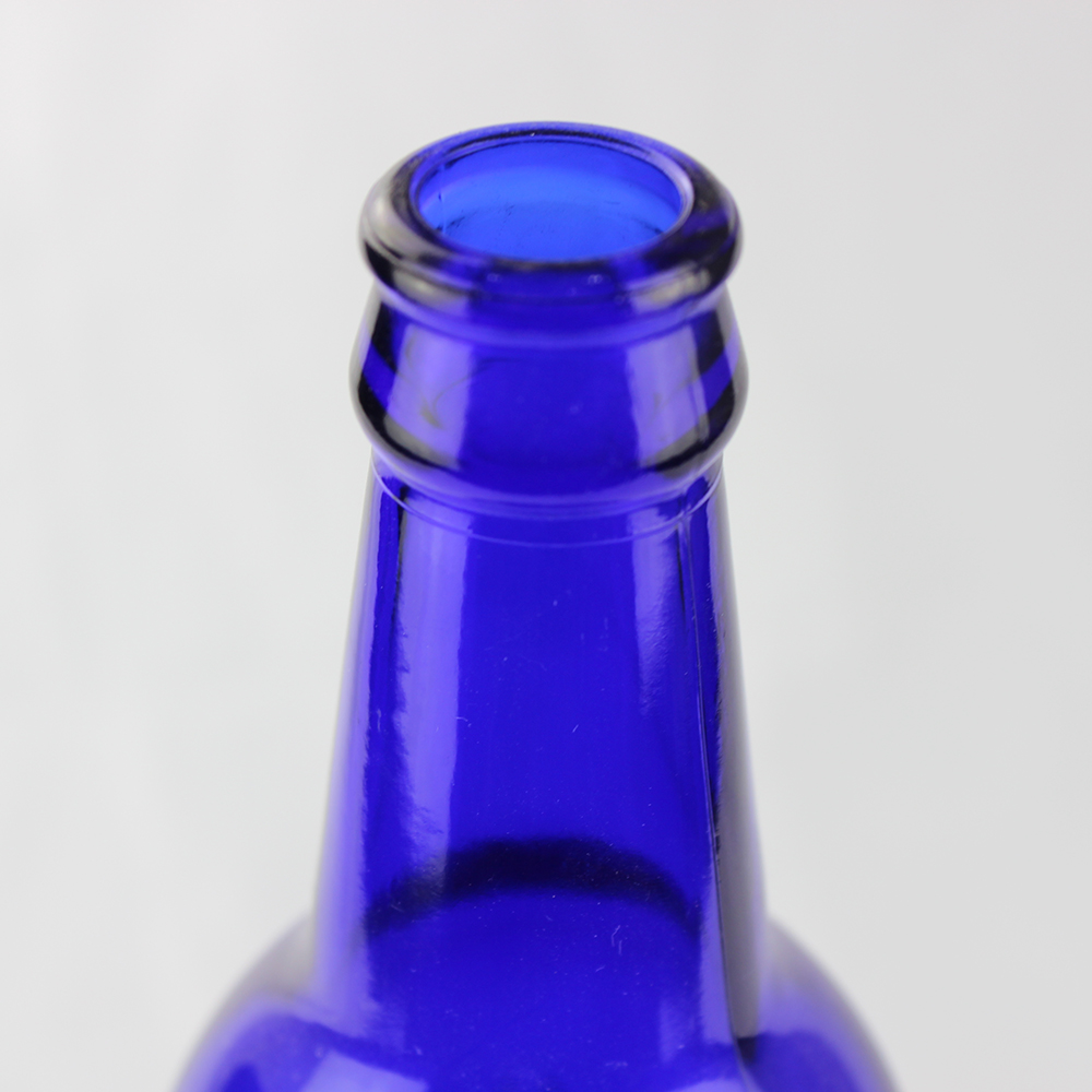 Blue 500ml Beer Glass Bottle
