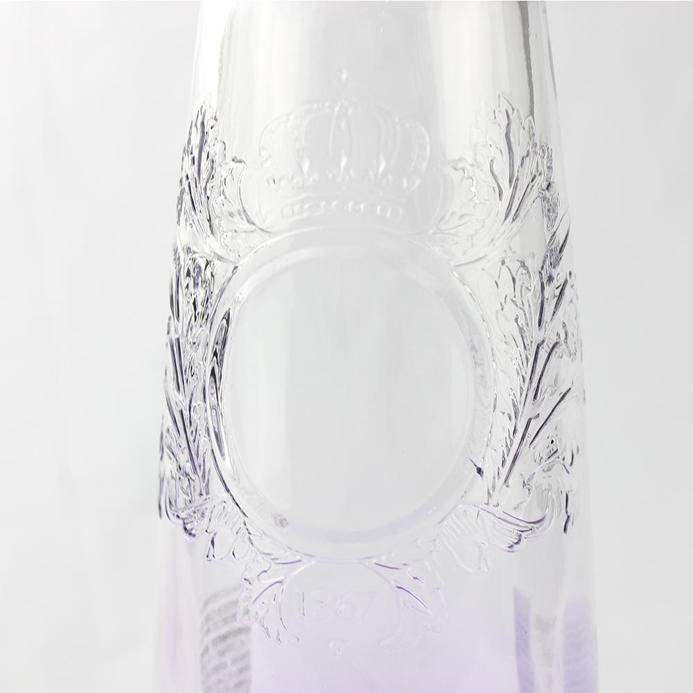 Fancy 750ml Liquor Glass Bottle