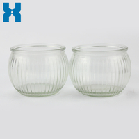 Candle Glass Jar 185ml Clear Jar