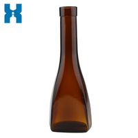 200ml Amber Spirits Glass Bottle