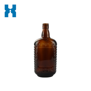 Screw Top Amber Spirit Glass Bottle 700ml