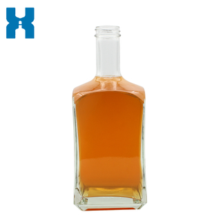 Square 750ml Wholesale Clear Glass Bottle
