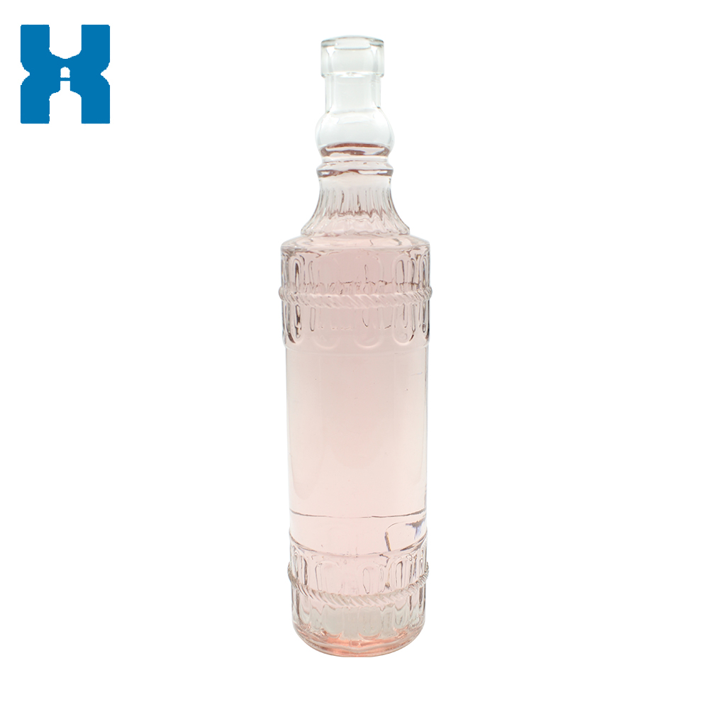 Wholesale Price 750ml Unique Spirit Glass Bottle